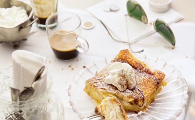 פודינג לחם, מסעדת גראנד קפה (צילום: דן לב, על השולחן)