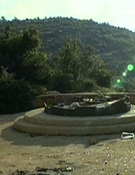האנדרטה שהוסרה (צילום: חדשות 2)