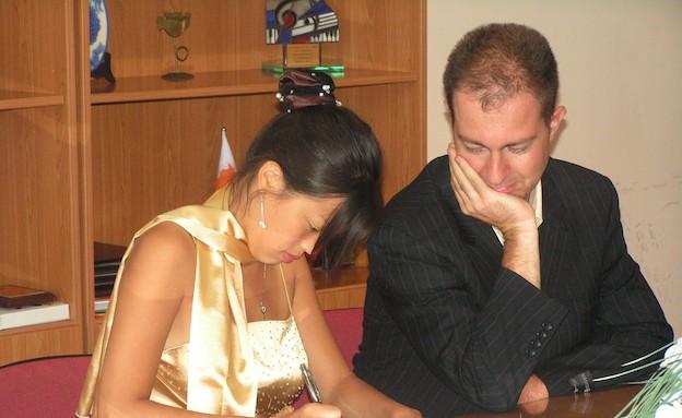 דניאל ואנני בחתונה (צילום: תומר ושחר צלמים)