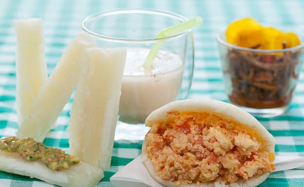 ארפה במילוי שקשוקה מקסיקנית (צילום: בני גם זו לטובה, אוכל טוב)