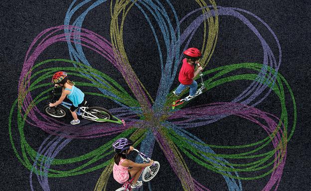 אופניים ילדות (צילום: chalktrail.com)