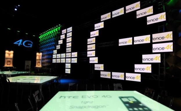 מכשיר ה-HTC Evo 4G בתערוכה בלאס וגאס (צילום: אימג'בנק/GettyImages, getty images)