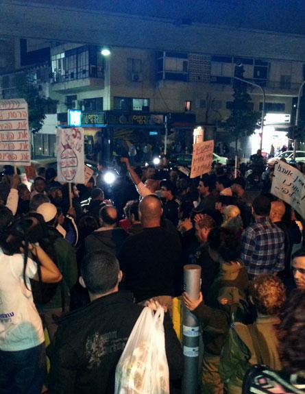 הפגנה בדרום תל אביב נגד המסתננים. ארכיון (צילום: עזרי עמרם)