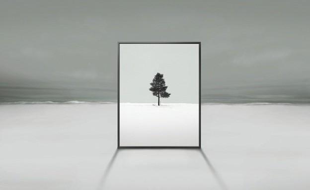 הדמיית טלוויזיה שקופה אנכית של סמסונג