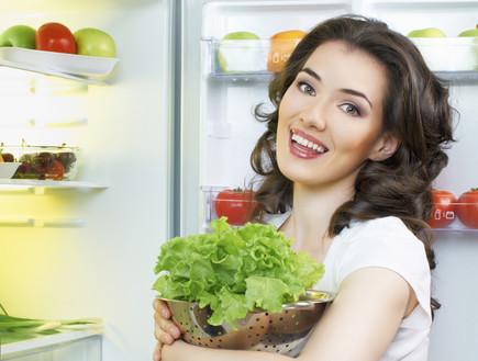 ניקוי המקרר, חסה ירוקה