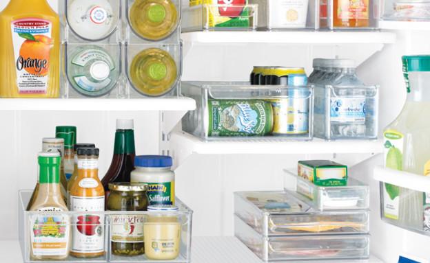 ניקוי המקרר, מדפים (צילום: www.thecontainerstore.com)