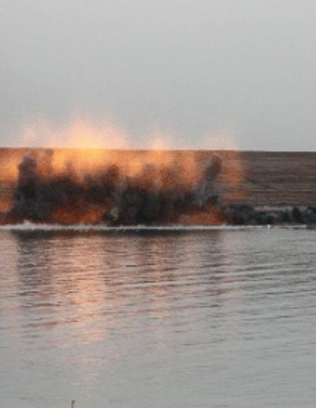 פיצוץ אמצעי הלחימה (צילום: חדשות 2)
