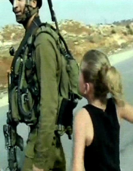 ירקה על חייל וזכתה לפרס מארדואן (צילום: חדשות 2)