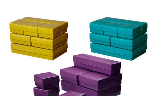 איקאה, קופסא עם מכסה צבעים שונים 7 יחידות- 5 שח במקום 25
