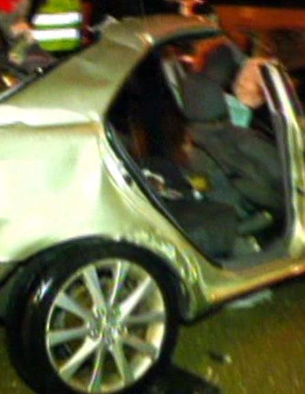 זירת התאונה בכביש 1, יום שלישי (צילום: חדשות 2)