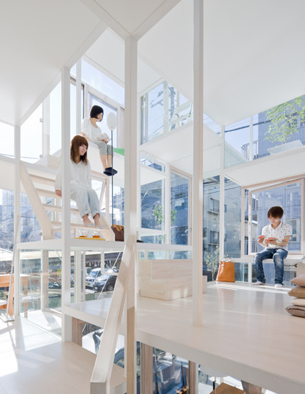 הבניין השקוף, קומה עליונה (צילום: Sou Fujimoto)
