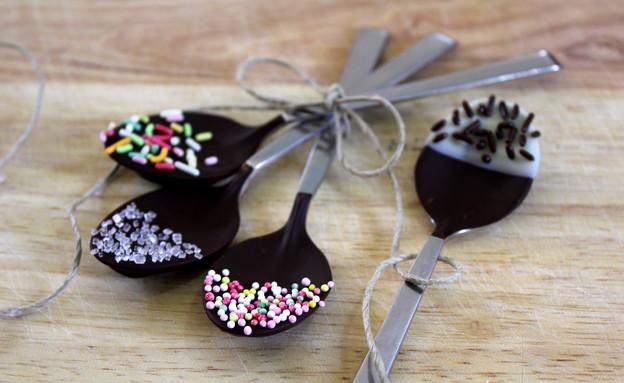 כפיות שוקולד (צילום: אסתי רותם, אוכל טוב)