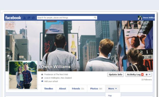 עיצוב חדש לטיימליין של פייסבוק