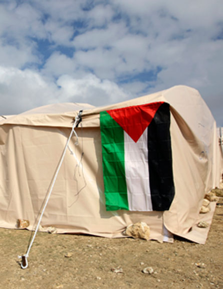 מאחז פלסטיני ב-E1, ארכיון (צילום: רויטרס)