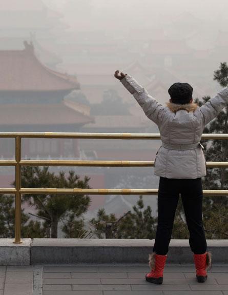 זיהום אוויר בבייג'ין. ארכיון (צילום: AP)