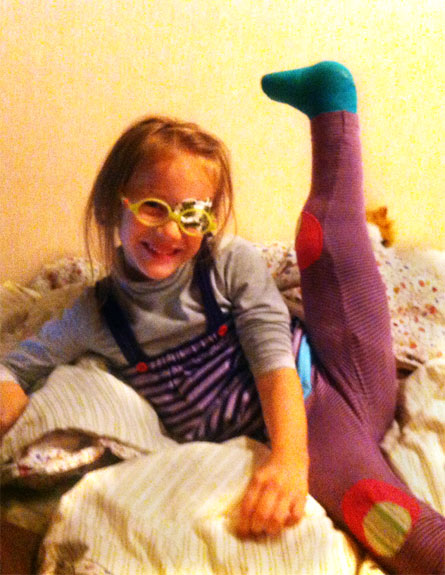סופיה אחרי הניתוח הראשון (צילום: אלבום תמונות משפחתי)