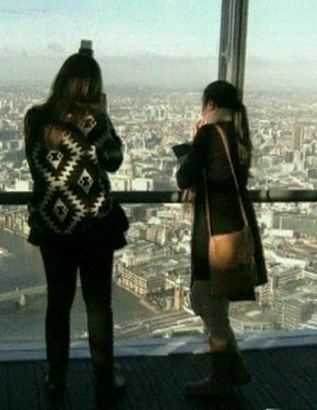 מבט מלמעלה - לונדון נראית קטנה (צילום: חדשות 2)