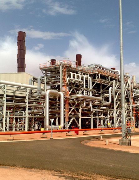 """""""מעשה נפשע"""". שדה הגז באלג'יריה (צילום: ap)"""