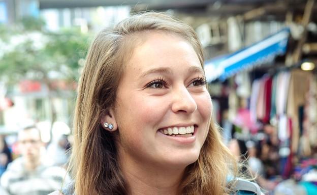 מישל, תיירת מלוס אנגלס (צילום: אור קפלן)