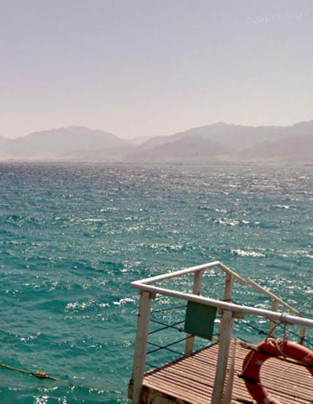 שונית האלמוגים באילת (צילום: גוגל סטריט)