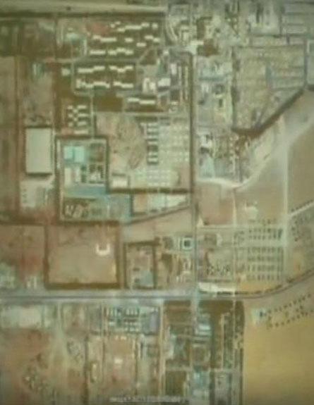 צילום לוויין של אזור חוות הגז (צילום: חדשות 2)