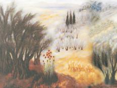 הכנסת, נוף הררי בגליל- ראובן רובין (צילום: מתוך אתר הכנסת)