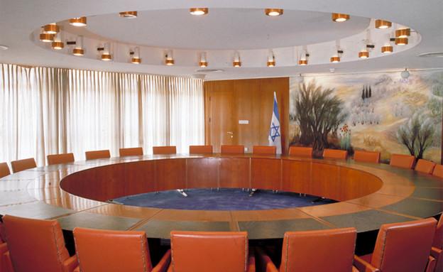 הכנסת, חדר הממשלה (צילום: מתוך אתר הכנסת)