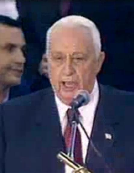 השינוי של שרון. בחירות 2003 (צילום: חדשות 2)