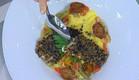 פילה דניס בפטריות על פולנטה (תמונת AVI: mako)