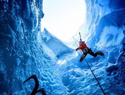 טיפוס, מערות קרח באלפים