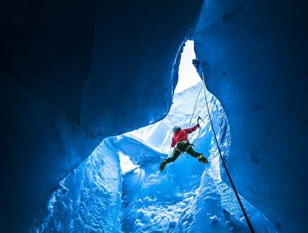 יתד בקרח, מערות קרח באלפים