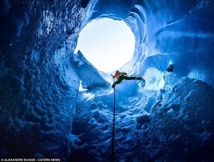 מטפסים, מערות קרח באלפים