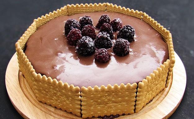 עוגת שוקולד ביסקוויטים (צילום: דליה מאיר, קסמים מתוקים)