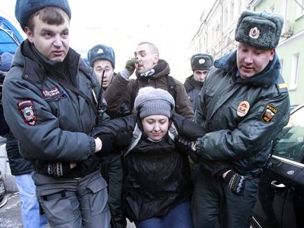 מפגינים ברוסיה (צילום: רויטרס)