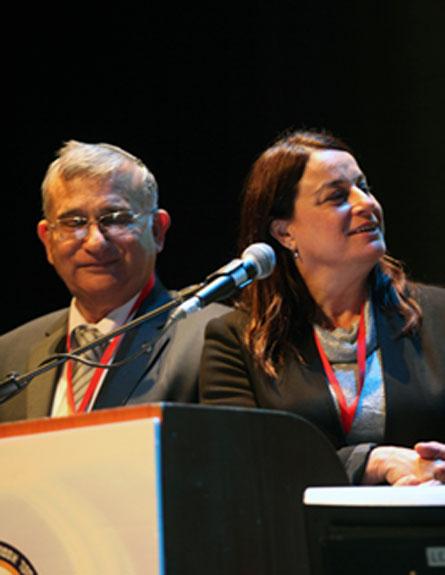 """השר הרשקוביץ, רונה רמון ומנכ""""ל משרד המדע (צילום: צילום: יואב ארי דודקביץ)"""