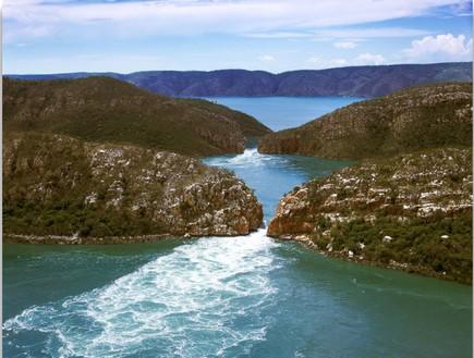מלמעלה, מפל אופקי באוסטרליה