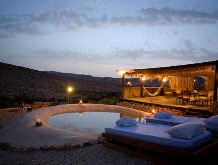 זית במדבר, קמפינג בחורף (צילום: איתמר גרינברג)