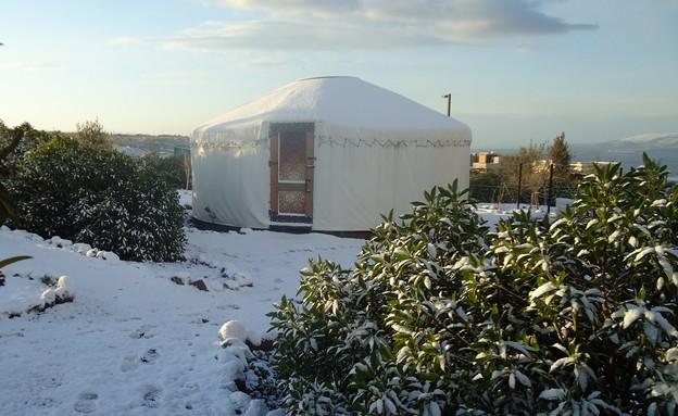 חניון חברותא, קמפינג בחורף (צילום: נירית לדרר)