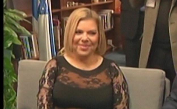 השמלה של שרה נתניהו (צילום: חדשות 2)