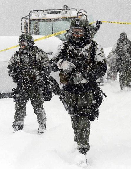 """מפלסות שלג, סופה, צפון ארה""""ב, אמריקה (צילום: חדשות 2)"""