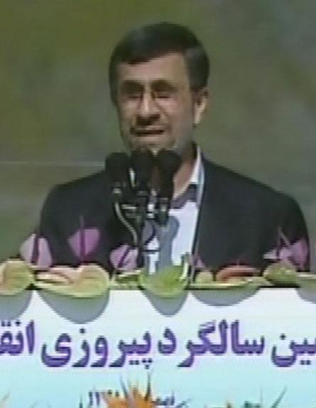 אחמדינג'אד, הבוקר (צילום: חדשות 2)