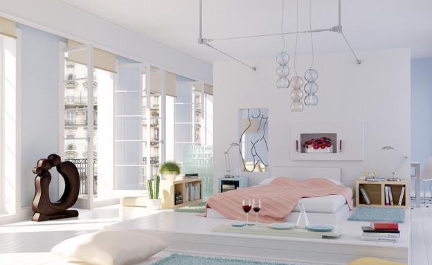 חדר שינה (צילום: retro-bedroom-by-elif)