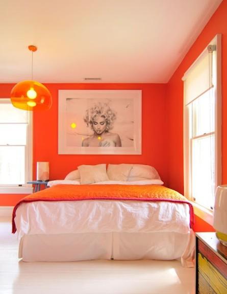 כתום בחדר השינה (צילום: heartbeatoz tumblr com)