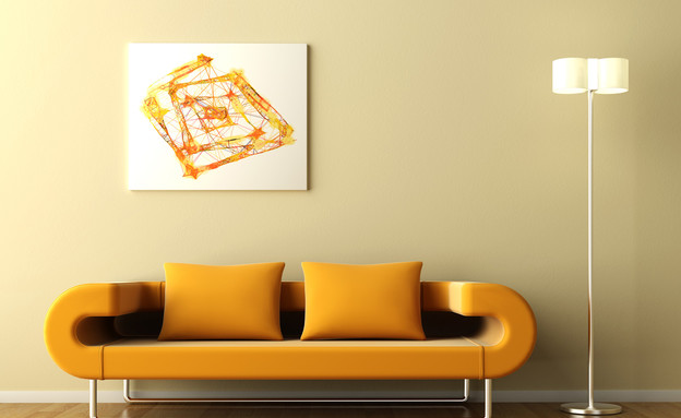 ספה כתומה (צילום: nirlat)