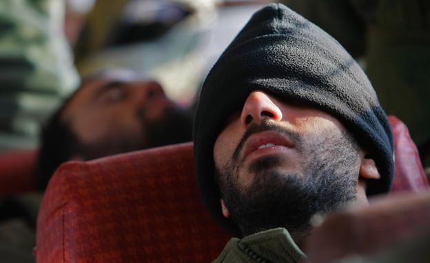 חייל ישן באוטובוס (צילום: David Silverman, GettyImages IL)