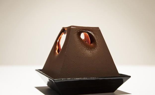 מנורת שוקולד, מוארת (צילום: lervik.se)