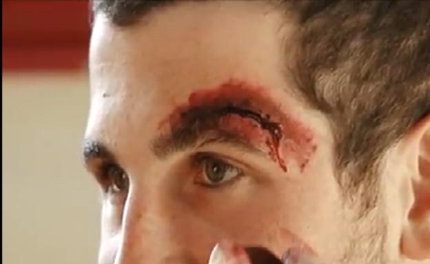 """חייל מאופר כפצוע (צילום: דובר צה""""ל, באדיבות גרעיני החיילים)"""