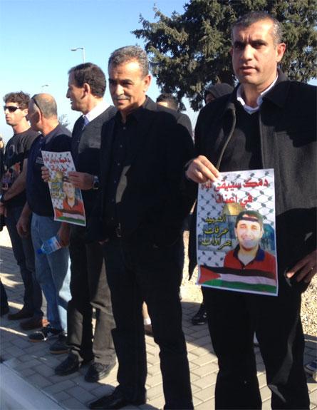 הפגנה מול כלא מגידו. צפו בדיווח המלא (צילום: חדשות 2)