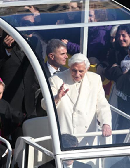 האפיפיור בנדיקטוס ה-16 (צילום: חדשות 2)