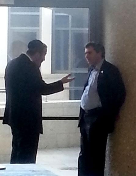אלקין ודרעי נפגשו בכנסת (צילום: חדשות 2)